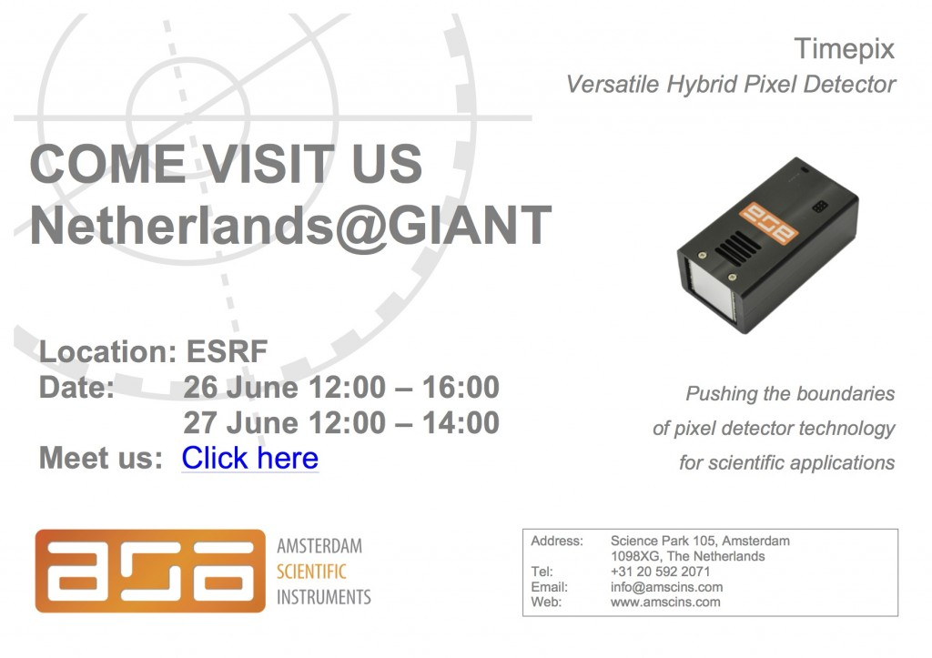 ASI attending Netherlands@GIANT website