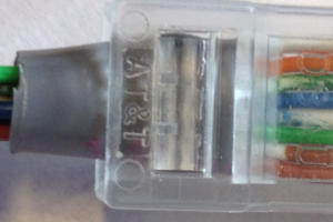 The RJ45 ethernet connector.